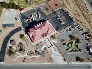 Overhead view of Adelanto City Hall